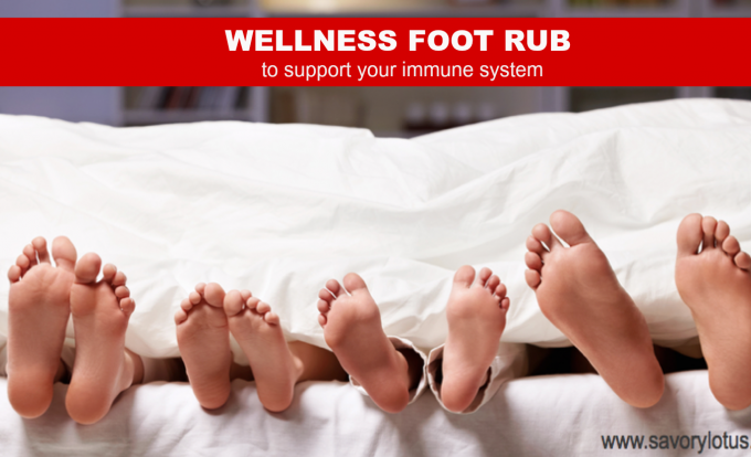 immune system, essential oils, foot rub