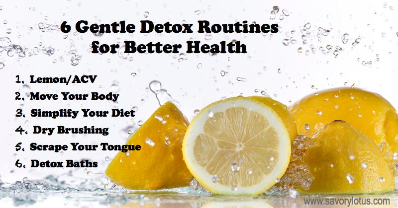 daily detox, gentle detox routines, dry brushing