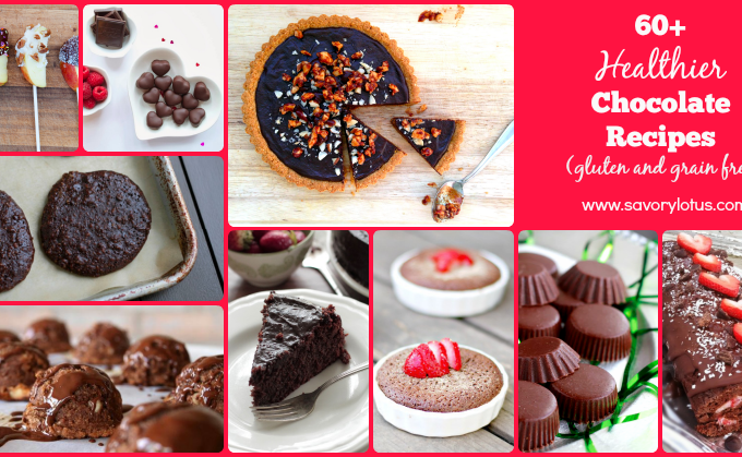 60+ Healthier Chocolate Recipes