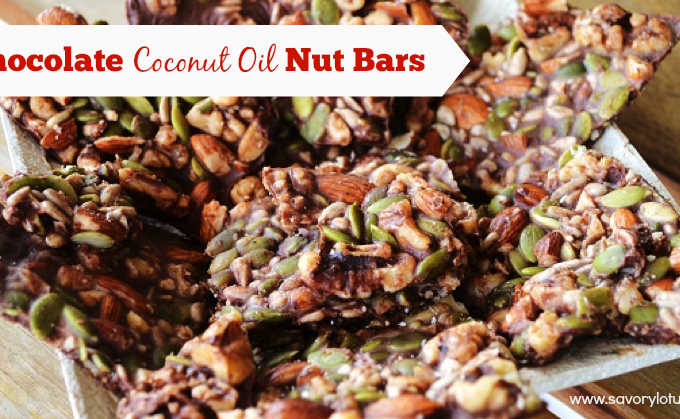 coconut oil, nut bars, chocolate