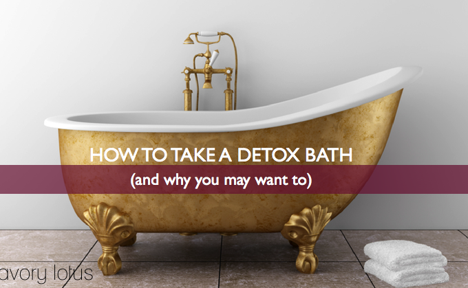 detox bath. epsom salt bath