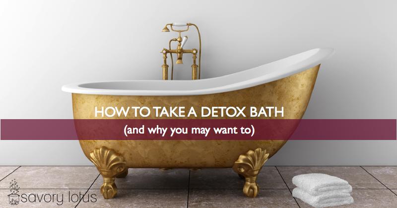 how to take a detox bath savory lotus. Black Bedroom Furniture Sets. Home Design Ideas