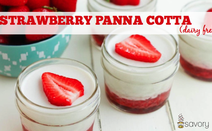 Strawberry Panna Cotta (dairy free)