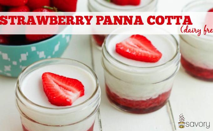 Strawberry Panna Cotta (dairy free)