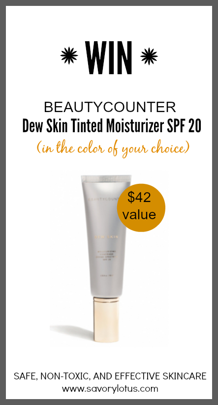 Beautycounter Dew Skin Tinted Moisturizer Giveaway - www.savorylotus.com