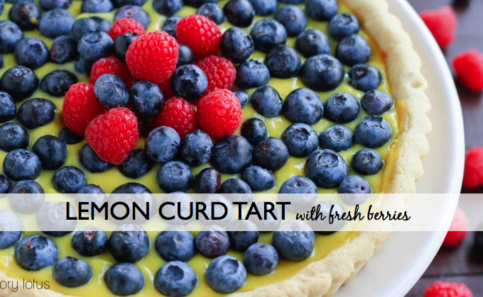 Lemon Curd Tart with Fresh Berries