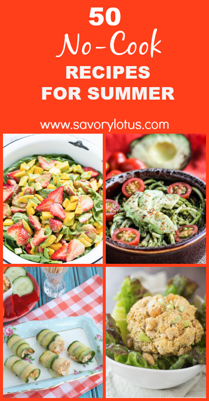 no-cook recipes, paleo, gluten free, summer