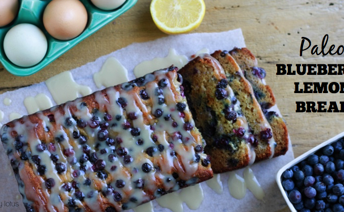 Paleo Blueberry Lemon Bread