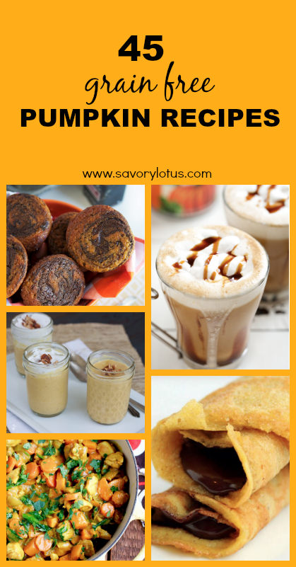 45 Grain Free Pumpkin Recipes - www.savorylotus.com