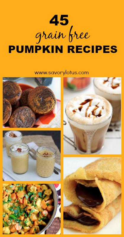 45 Grain Free Pumpkin Recipes - www.savorylotus.com
