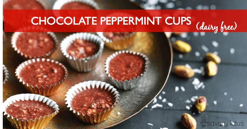 Chocolate Peppermint Cups (dairy free) | www.savorylotus.com