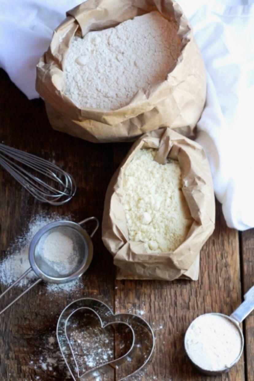 grain free flour in paper bags