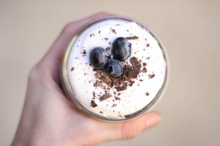 Blueberry Tea Infused Pots de Creme Parfaits -- www.savorylotus.com