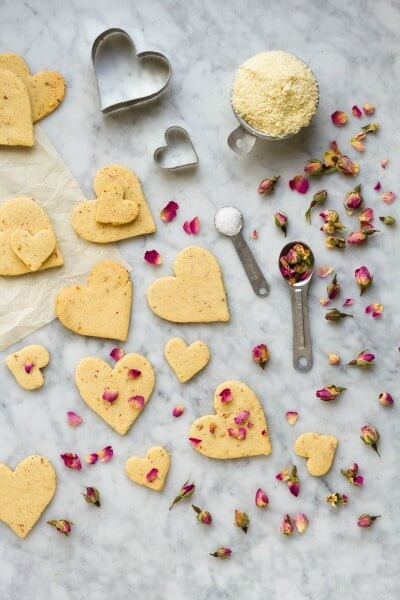 Rose Shortbread Cookies (grain free) ~ www.savorylotus.com