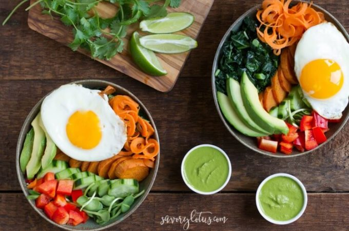 Veggie Breakfast Bowl with Magic Cilantro Sauce