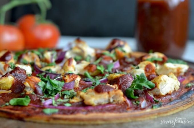 Paleo BBQ Chicken Flatbread
