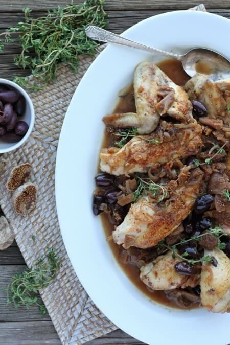 Pan-Roasted Chicken with Figs and Olives