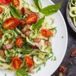 Cream Bacon Zoodles (dairy free) --- from www.savorylotus.com