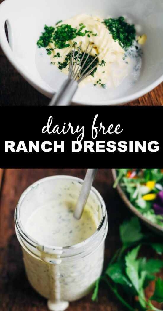 ranch dressing in glass mason jar on table