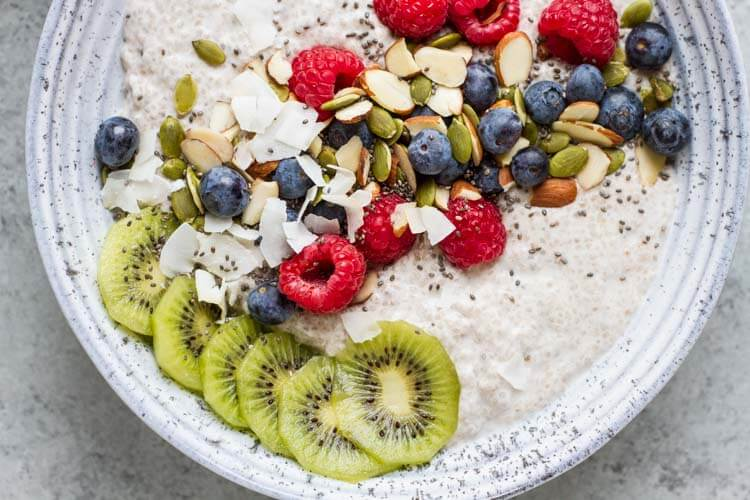 Chia Pudding Breakfast Bowl \\\ www.savorylotus.com 2