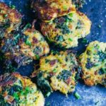 Bacon and Kale Spaghetti Squash Fritters (gluten free) | www.savorylotus.com