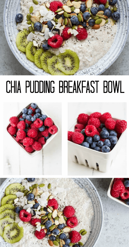 Chia Pudding Breakfast Bowl - www.savorylotus.com