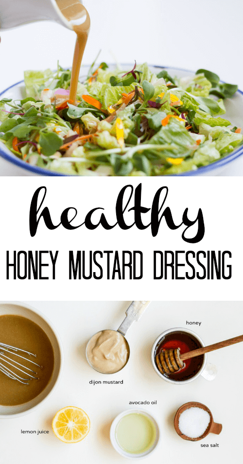 Healthy Honey Mustard Dressing - www.savorylotus.com