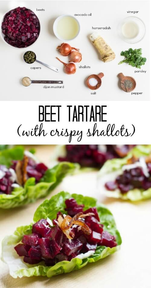 Beet Tartare (with crispy shallots) - www.savorylotus.com