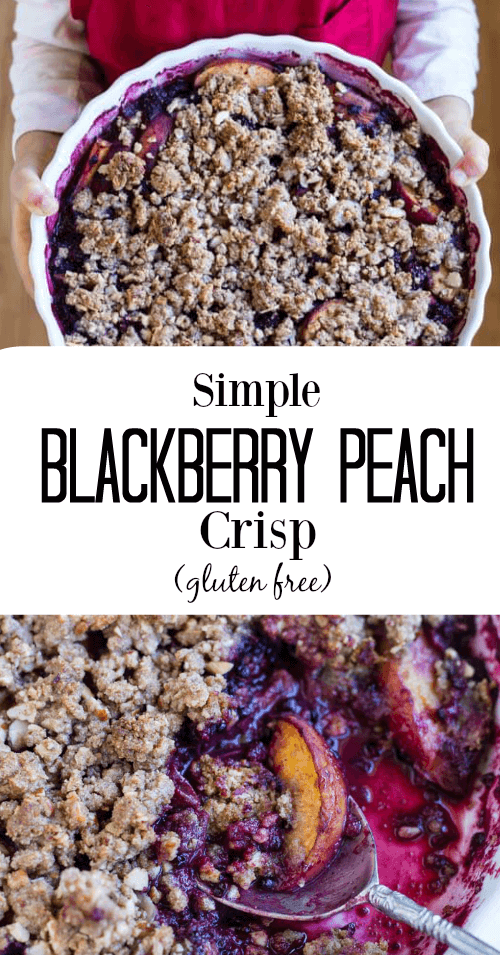 Simple Blackberry Peach Crisp (gluten free) - www.savorylotus.com