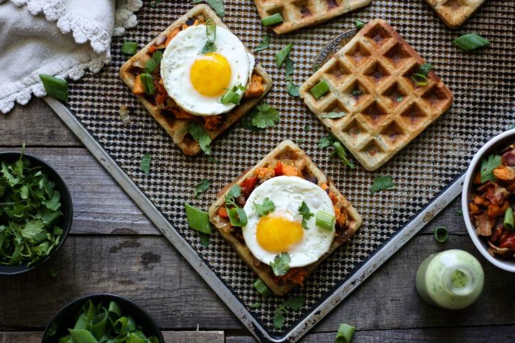 Savory Waffle Sandwich (grain free, nut free, dairy free) www.savorylotus.com