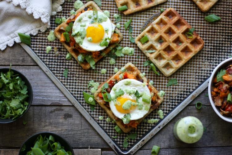 Savory Waffle Sandwich | (grain free, nut free, dairy free) www.savorylotus.com