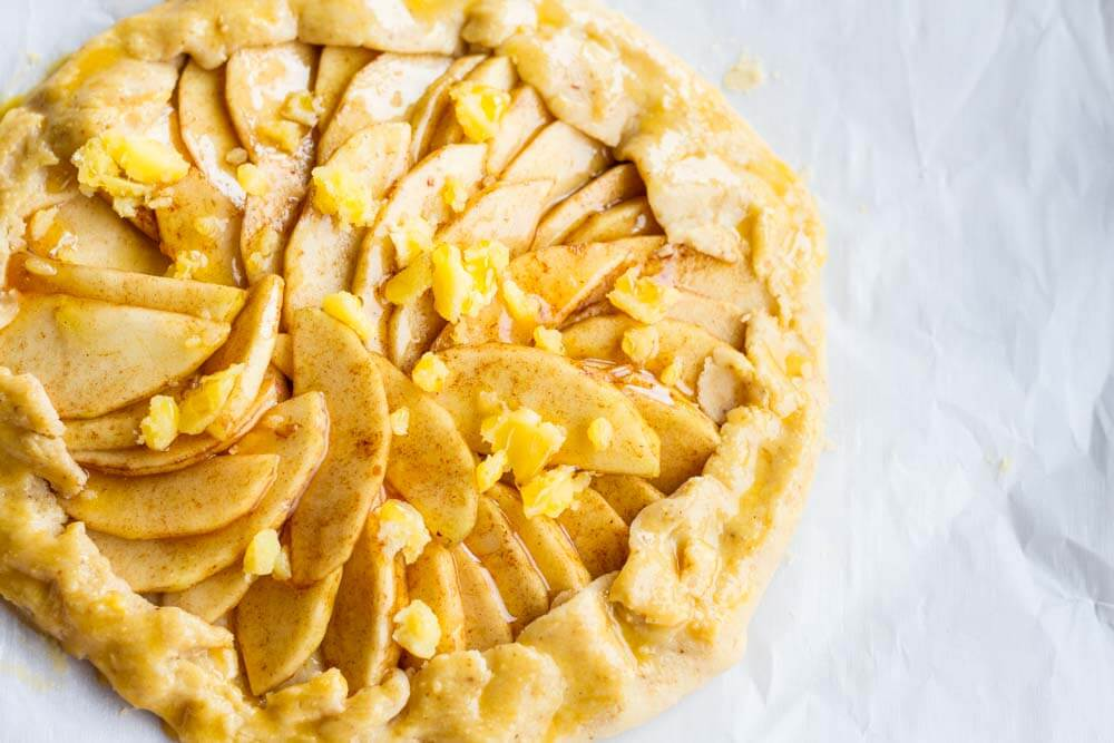 apple galette before it is baked
