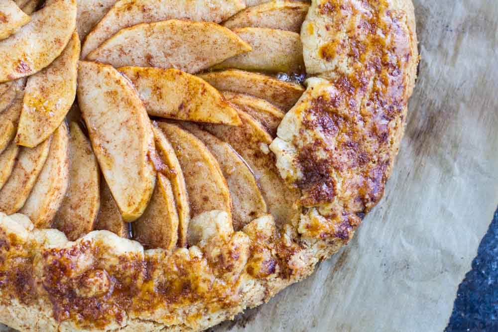 Apple Galette (gluten free and paleo)  www.savorylotus.com