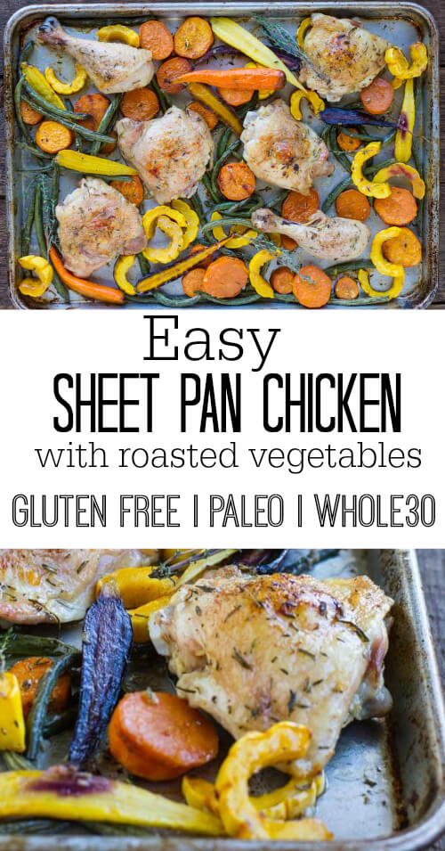 Easy Sheet Pan Chicken with Roasted Vegetables || www.savorylotus.com