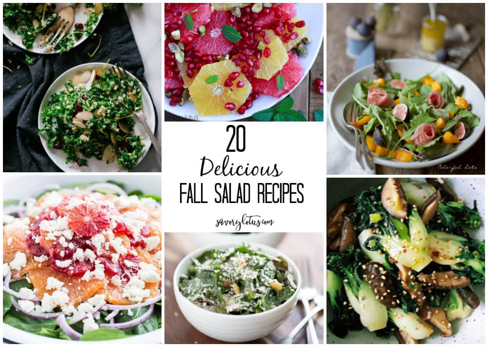 20 Delicious Fall Salad Recipes | www.savorylotus.com