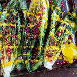 Grilled Romaine Salad with Creamy Turmeric Dressing (dairy free) | www.savorylotus.com