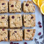 Orange Cranberry Chocolate Chip Cookie Bars (gluten free) \\\ www.savorylotus.com