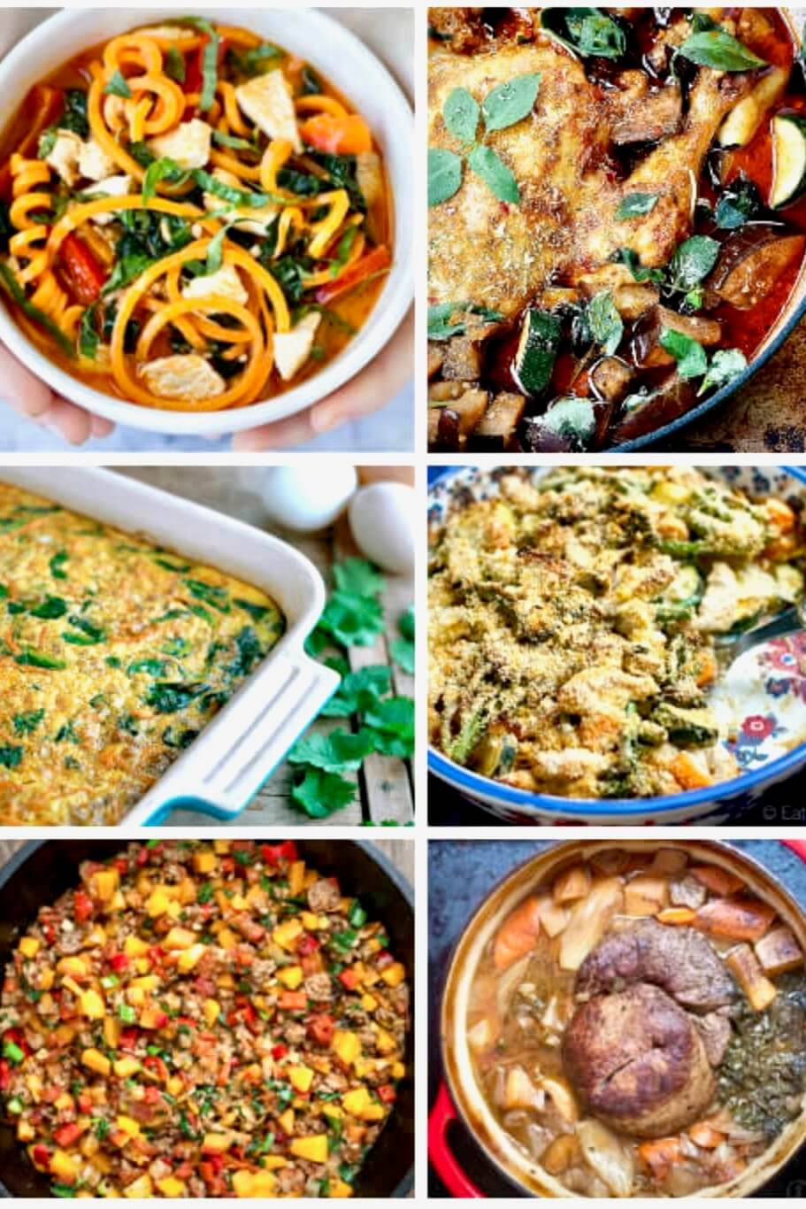 one pot meals in a collage