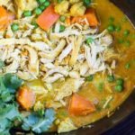 Slow Cooker Coconut Curry with Chicken \\ www.savorylotus.com
