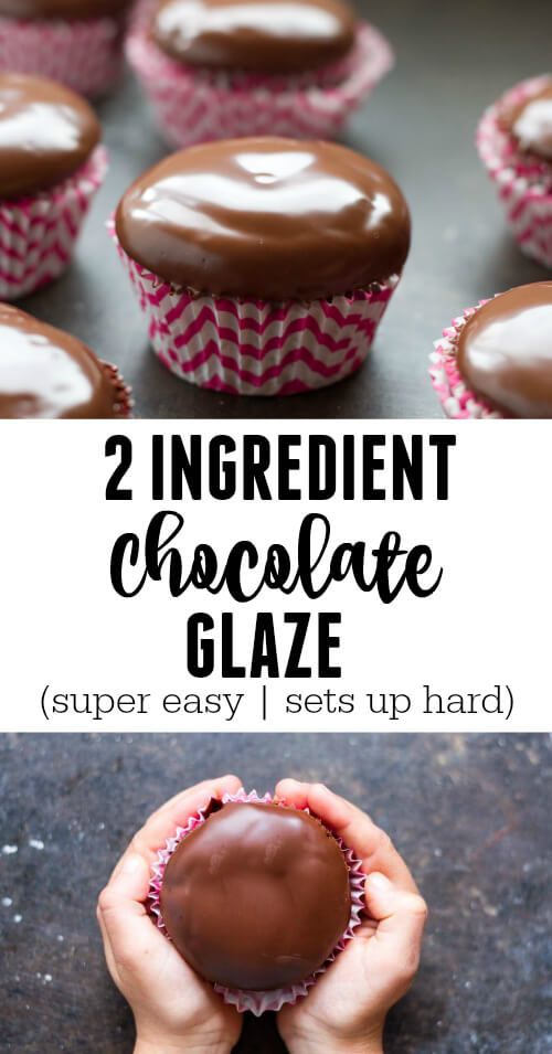 2 Ingredient Chocolate Glaze - www.savorylotus.com