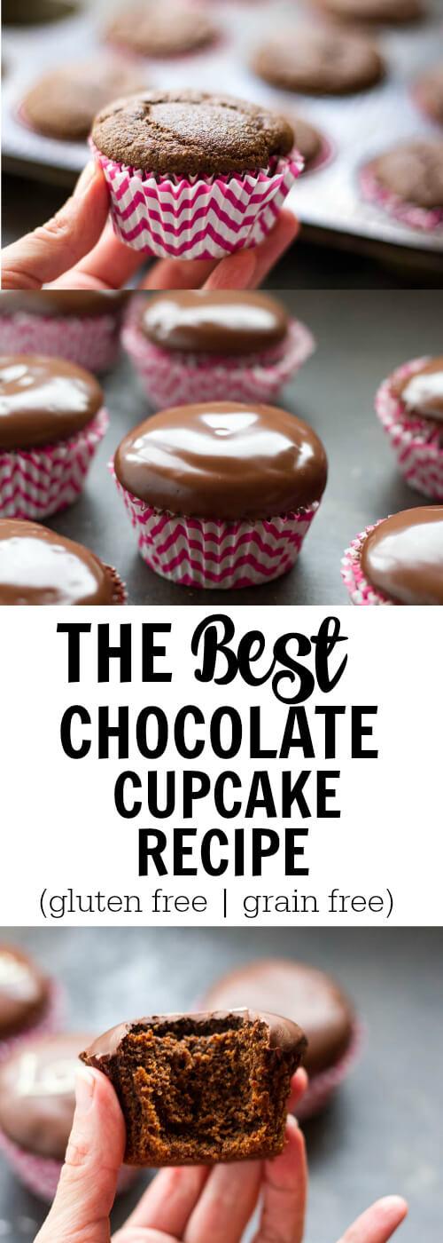 The BEST Chocolate Cupcake Recipe (gluten free and grain free ...