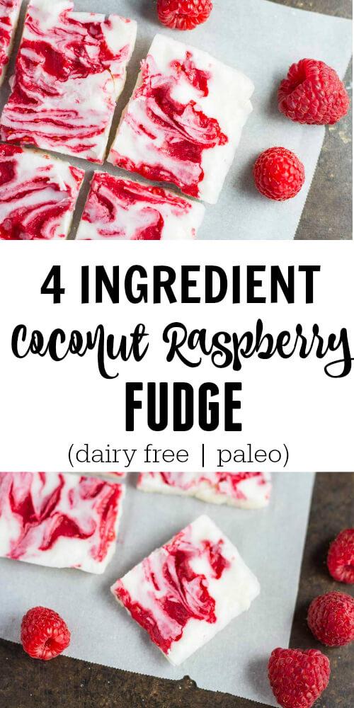 4 Ingredient Raspberry Fudge - www.savorylotus.com