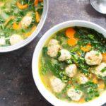 30 Minute Turkey Meatball and Kale Soup | (gluten free, dairy free) \ www.savorylotus.com