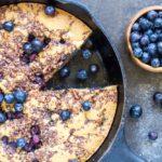 Skillet Blueberry Coffee Cake (gluten free, grain free, paleo) \\\\ www.savorylotus.com
