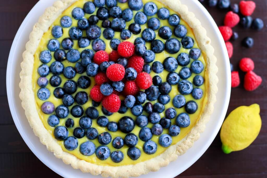 Lemon Curd Tart with Fresh Berries