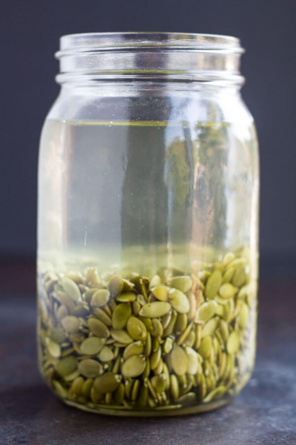 How to Make Pumpkin Seed Milk (dairy free) ~~ www.savorylotus.com