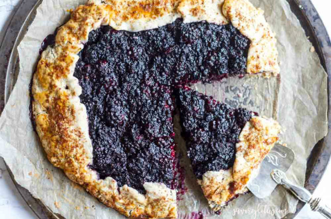 Blackberry Ginger Galette (gluten free and paleo)