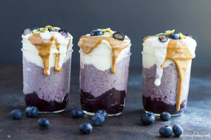 Blueberry Breakfast Parfaits | www.savorylotus.com