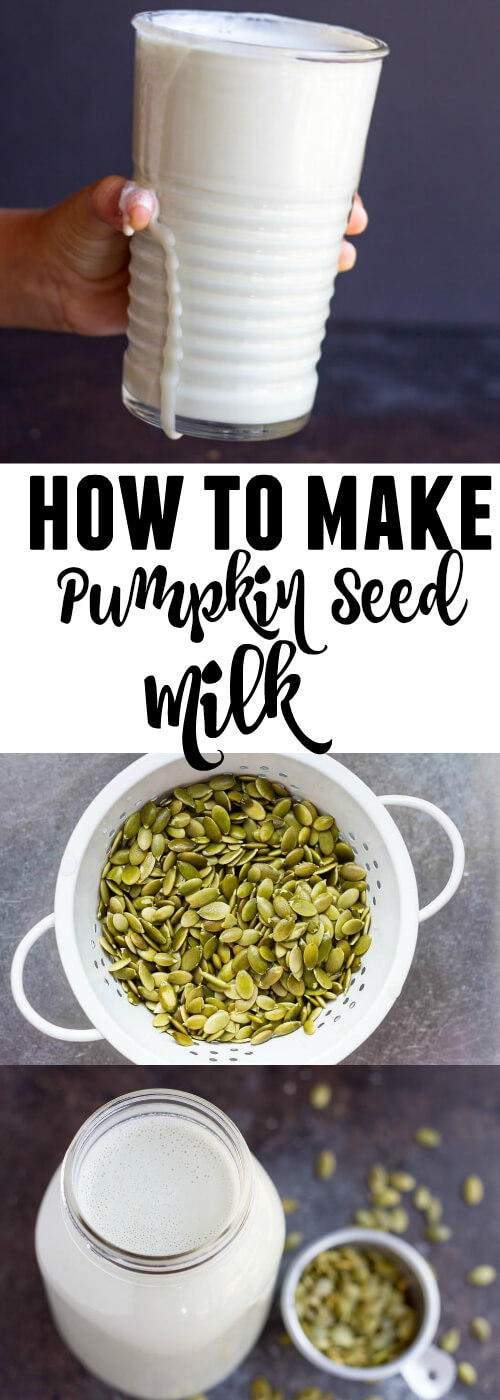 How to Make Pumpkin Seed Milk - www.savorylotus.com