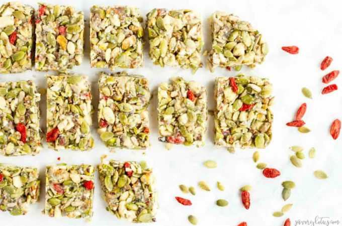 No Bake Tahini Honey Granola Bars (gluten free and paleo)